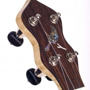 Cedar Mountain Jubilo peghead with cardinal inlay