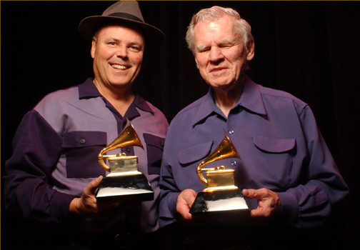 Grammy-winning musician David Holt with Doc Watson