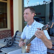 Cedar Mountain Banjos owner and Brevard, NC resident Ray Adams with his L3.